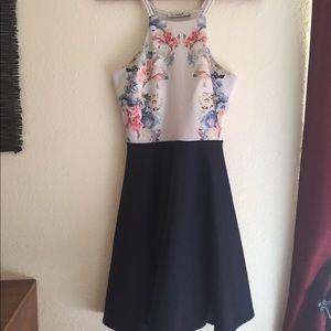 Papaya Navy floral dress